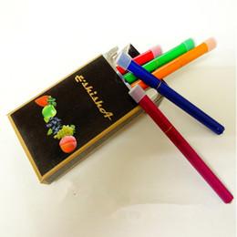 Wholesale Disposable Nicotine - New E Shisha Pens Hookah Disposable Cigarette E ShiSha Time Fruit flavor No nicotine 500 puffs Colorful Metal Tube EGO Cig Free shipping