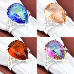 Wholesale Wholesale Crystal Bears - Top Fashion Rodamiento Roller Rotary Table Tapered Bearing 4pcs 925 Silver Crystal Jewelry Channel Rings Woman for Party #7 #7.5 #8 #9