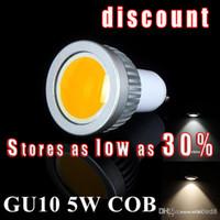Wholesale Mr16 Lighting Angle - Lucky X2 COB 5W 600 Lumens Dimmable GU10  e27 mr16 e14  Led Bulbs Light 120 Angle Warm Natural Cool White AC 110-240V Led Spotlights Lamp