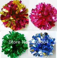Wholesale Cheer Horns - Free Shipping.50G Cheering pompom,Metallic Pom Pom,Cheerleading products,many colors for your choose