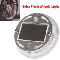 Wholesale Solar Led Wheel Lights - 2015 cool Solar Powered Car Wheel 12X Colorful LED Flash Light Lamp With Auto-Off Function CEC_626