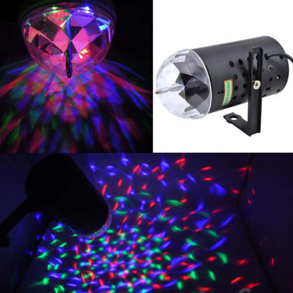 3W led dj strobe rgb Voice-activated Crystal Magic Ball mini laser lights for Party Disco DJ Bar Bulb KTV Lighting Show