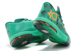 Wholesale Men S Kd Shoes - Branded Air Sports Shoes DS KD VI EASTER 6 Kevin Durant Camo Lucid Green Men s Basketball Shoes Fast Shippment Men Athletics Sneakers Boots