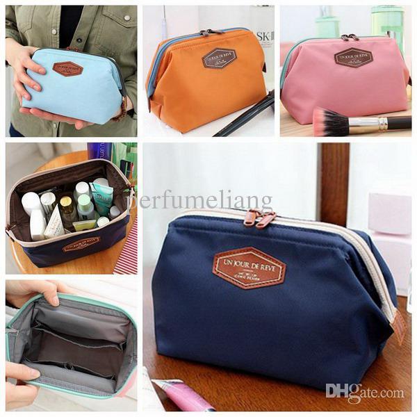 2014 Kosmetiktasche in Tasche Kosmetikerin Ordentlich sammeln Lagerung Handtaschen Gute Qualität Nylon CosmeticSanitary Servietten-Organisator-Taschen