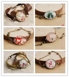 Wholesale American Clocks - 6 Options Vintage Owl Fox Peacock Tree Flower Clock Bracelets Handmade Bracelets Bronze Antique Bracelets New 2014 002