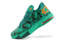 Branded Basketball Schuhe DS KD VI OSTER 6 Kevin Durant Camo Lucid Green Air Zoom Sportschuhe Fast Shippment Herren Leichtathletik Sneakers Stiefel