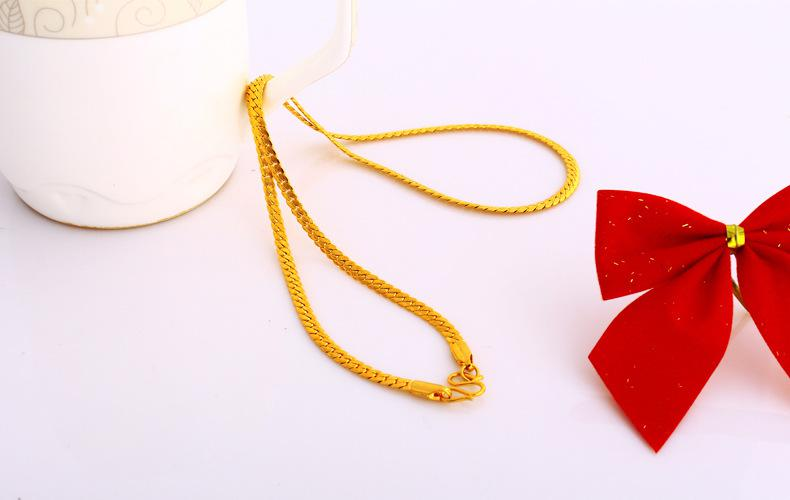 24k مطلية بالذهب 50cm ثعبان قلادة طويلة 2014 للنساء المجوهرات ، 2016 حار بيع سلسلة collares