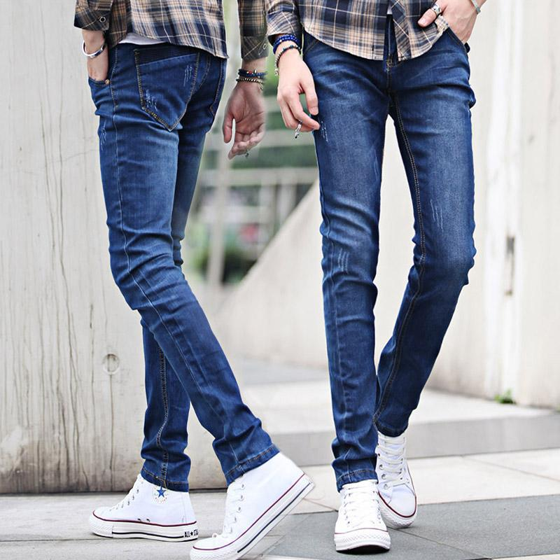Street style in  world! - Page 14 New-2015-men-039-s-jeans-stretch-jeans-blue