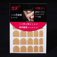 Wholesale New Fake Glue Nails - Wholesale - New 20 stickers pcs Double-sided Adhesive Tape for Nail Tips Fake Nail Adhesive Glue Tape