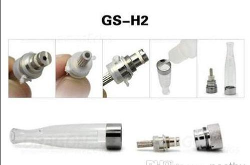 Wholesale - Factory price GS H2 Atomizer Core Changeable GS-H2 Clearomizer coil head Replaceable GSH2 Cartomizer EGO ego t E cig Electronic