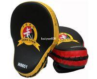 ingrosso pad guanti boxe-2pieces / lot! Muay Thai MMA Boxing Guanti Sandbag Punch Pads Hand Target Messa a fuoco di addestramento Mitts circolari per Kick Fighting