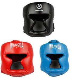 Wholesale Muay Thai Guard - Free shipping 3pcs lot Closed type boxing head guard Sparring helmet MMA Muay Thai kickboxing brace Head protection HT-29