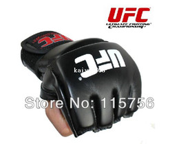 Mma Boxing Glove Canada - Free shipping 2 pairs lot MMA boxing gloves half fighting fighting Boxing Gloves Competition Training Gloves