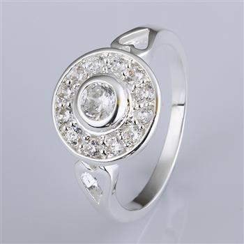 Karışık 20 Stil 925 Gümüş Zirkon Yüzük Alyans en iyi parti hediye