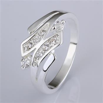 Blandad 20 Stil 925 Silver Zircon Ring Wedding Ring Den bästa festgåvan