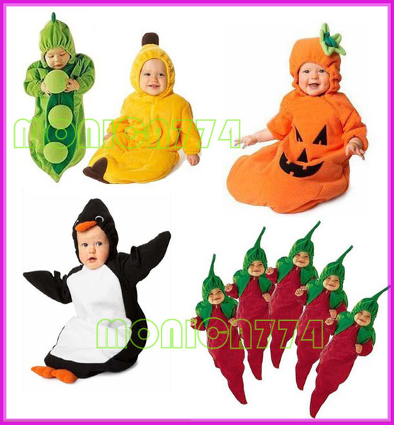 HOT SALE!Drop Shipping Free Ship!Retail Lovely Babies Pea/Banana/Penguin/Chili/Pumpkin Sleeping Bag Magic Sleep bags Fleece Infant,One Layer