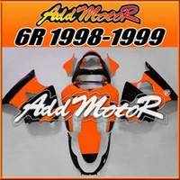 Wholesale 98 Zx6r Fairings - Addmotor Fairing For Kawasaki ZX-6R ZX6R ZX 6R 1998 1999 98 99 Black Orange K6832+5 Free Gifts