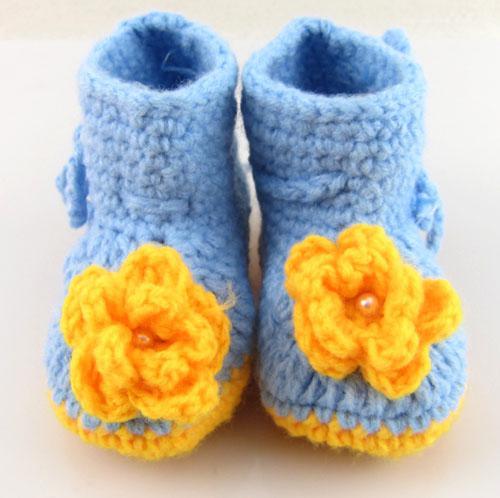 Sapatos de crochê do bebê botas bebê infantil artesanal primeiro caminhantes crianças botas de malha crianças presente de aniversário