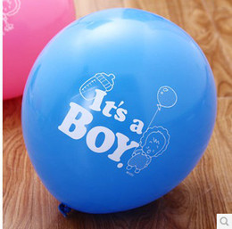 Wholesale Baby Shower Girl Balloons - New Arrival Boy Girl Printed Balloon Baby Shower Balloon Baby Toys Q1403