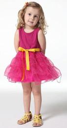 $enCountryForm.capitalKeyWord NZ - 2017 Summer Children Girls Solid Suspender Party Dressy Kids Lovely Sleevesless Layered Veil Princess Dresses Kids Sweety Tutu Dress I0408