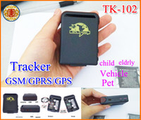 Wholesale Hand Gps Systems - Mini Spy Vehicle Realtime Tracker For GSM GPRS GPS System Tracking Device TK102 free shipping