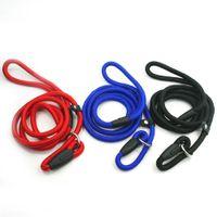 Wholesale Nylon P Leash - (3 Colors 3 sizes) Brand New Nylon P-Leash Rope Training Dog Lead Leash New High Quality Guarantee