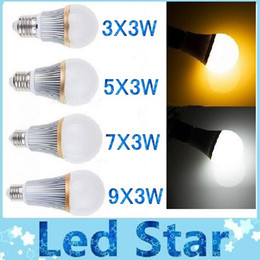 Wholesale Epistar 27w - Ultra Bright led bulb light lamp E27 E26 E14 9W 15W 21W 27W LED Bulb Spotlight Support Dimmable Warm Pure Cool White 110-240V CE ROHS