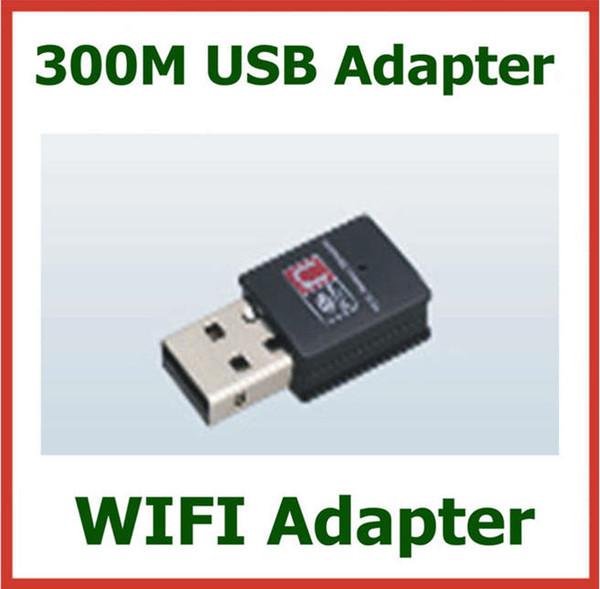 10pcs 300Mbps 300M Wireless WIFI adaptador USB con antena interna LAN adaptador de red WIFI