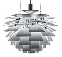 Wholesale Louis Poulsen Lamps - Hot Selling 50CM Louis Poulsen PH Artichoke Lamp designe Denmark Modern Suspension Pendant Light Chandelier Living room lamp