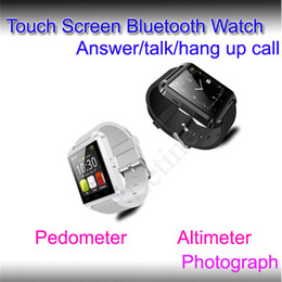 Wholesale Cheap Phone For Kids - Best Cheap smart watch u8 bluetooth smart watch with pedometer,Thermometer,caller ID display for ios android Mobile phone Free shipping