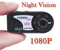 Wholesale Sport Small Hd Camera - mini dv mini camera 12.0MP smallest DV IR Night Vision Camcorder free DHL