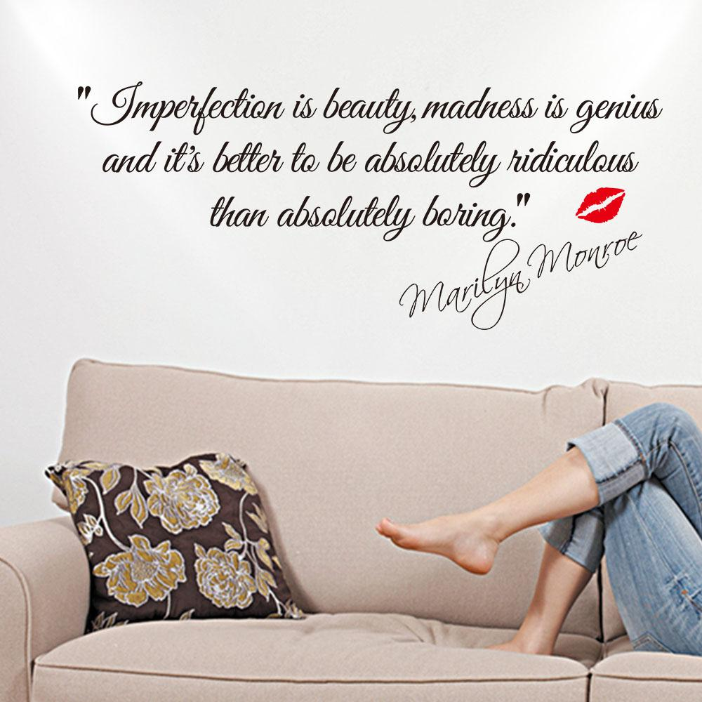 impersonation is beauty monroe quotes vinyl wall decal sticker the following wall stickers