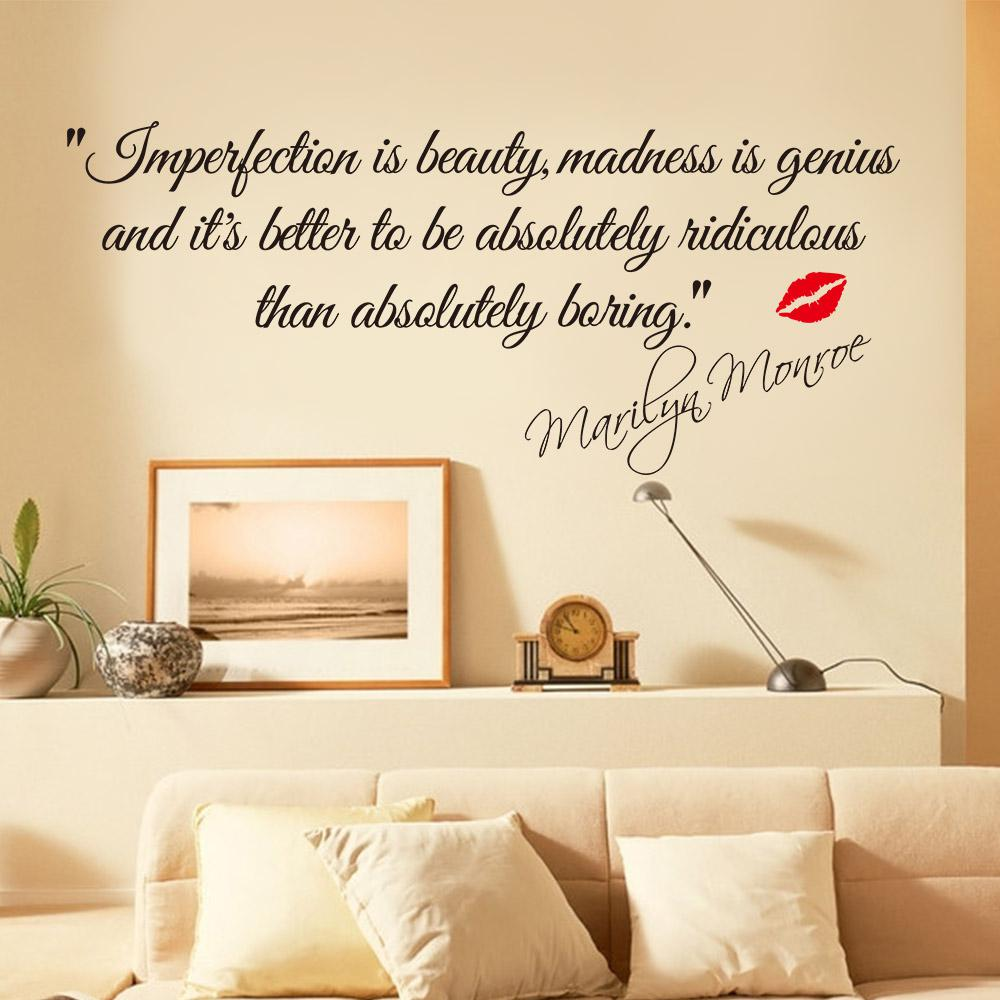 Wall Decor Sticker Impersonation Is Beauty Monroe Quotes Vinyl Wall Decal Sticker