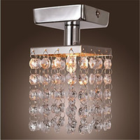 Wholesale Mini Light Chandeliers - New Arrival Modern Chandeliers Ceiling Lamp Crystal Chandeliers Mini Semi Flush Mount in Crystal Chandelier Entrance Hallway Light Chrome