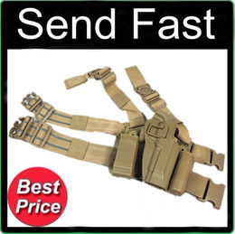 Wholesale Holster Tactical M92 - M92 tactical puttee thigh belt drop Leg holster pouch sand