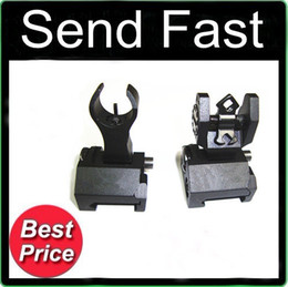 Wholesale Wholesale Rear Sights - 2 pcs in 1 set Metal TRQY Front and Rear Folding Battle sights COMBO Black II