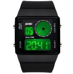 Wholesale Titanium Dress Watches - Free shipping New Fashion Military Digital Wristwatches Ladies Silicone Strap 30m Waterproof Dive Quartz Dress Watch