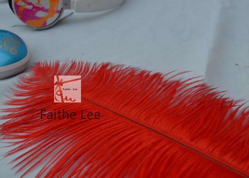 شحن مجاني 100 قطعة / الوحدة 12-14 بوصة 30-35 سنتيمتر أحمر ريش النعام بلوم لحفل زفاف طاولة الزينة الزفاف المركزية