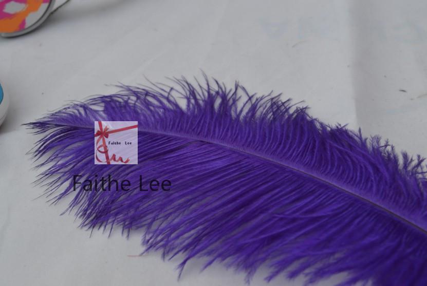LIVRAISON GRATUITE / 12-14inch 30-35cm Violet Autruche Plumes pour table de mariage Décorations plume pièce maîtresse Pièce maîtresse de mariage