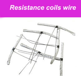 Wholesale Coil Wick Wire Atomizer - E Cigarette replaceable heater Resistance Coil wire Coil, wick and wire for rebuildable atomizer