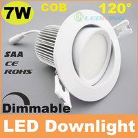 Wholesale Downlight Out - Hot 7W dimmable led downlight cob recessed ceiling lights 120° beam angle cut out 70-75mm 750lm SAA C-TICK CE RoHS free shipping 30+