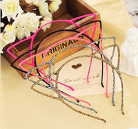 Wholesale Cheapest Slimming - Fashion Cat Ears Hair Bands Jewelry Womens Girls Slim Headbands 30pcs  Lot The Cheapest Hair Bands C0003