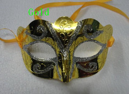 Wholesale Weld Mask - 2016 new fashion mix order 30pcs promotion selling party mask welding gold fashion masquerade Venetian colorful
