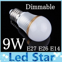 Wholesale High Efficiency Led - Brand New 9W Led bulb light lamp E27 E26 E14 High Power Dimmable Warm Nature Cool White led Spotlight energy efficiency 110-240V CE ROHS