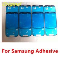 ingrosso alloggiamento per samsung s3-Colla adesiva pretagliata originale per Samsung Galaxy S2 S3 S4 i9100 i9300 I9500 Nota 1 Nota 2 N7100 Nota 3 N9000 S3 Mini S4 Mini Alloggiamento anteriore