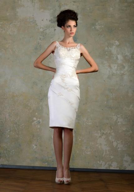 2020 خمر فساتين زفاف قصيرة الصيف سكوب زين قصيرة فستان الزفاف مطرز غمد مخصص جعل العاج الشاطئ فساتين العروس