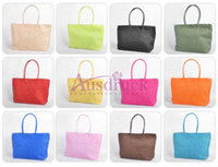 Wholesale Big Discount Bags - Big promotion!! ONLY $1 discount handbags women bags Summer Beach Big shoulder bags 10 Colors for your selection