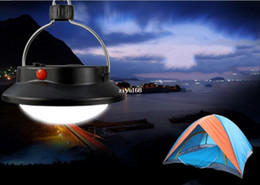 Wholesale Tent Campsites - 60LED Outdoor Camping Lamp with Lampshade Circle Tent Light Campsite Hanging Lamp