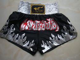 Wholesale Muay Thai Pants - Free Shipping Silver flame muay thai shorts boxing pants shorts free combat pants sanda service boxing Muay thai pants