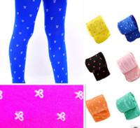 Wholesale Girls Under Pants - Spring & Summer Children Girls Cute Bowknot Printed Thin Dance Socks Baby Girl Colorful Velvet Leggings Under Pants Kids Child Socks I0432